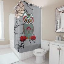 Sugar Owl Shower Curtain