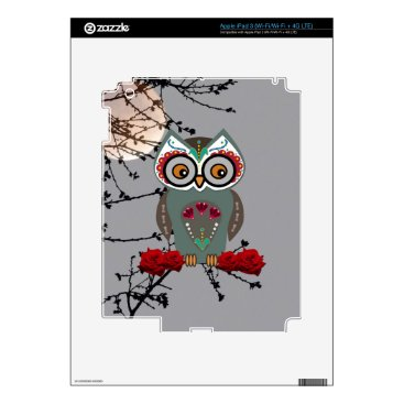 Halloween Themed Sugar Owl Skins For iPad 3