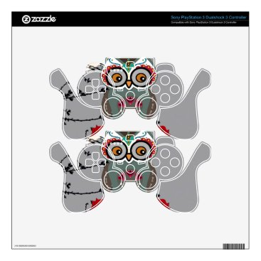 Halloween Themed Sugar Owl Skins For PS3 Controllers