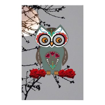 Halloween Themed Sugar Owl Stationery