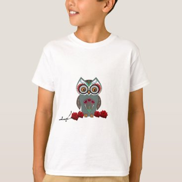 Halloween Themed Sugar Owl T-Shirt