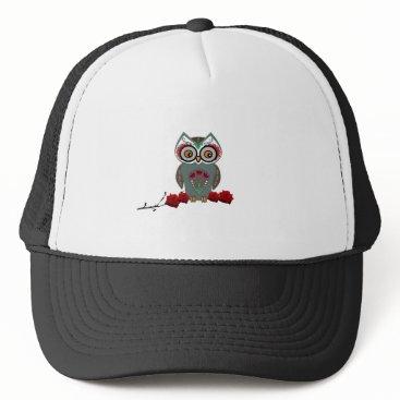 Halloween Themed Sugar Owl Trucker Hat