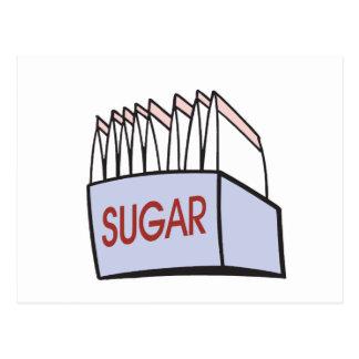 sugar packets postcard