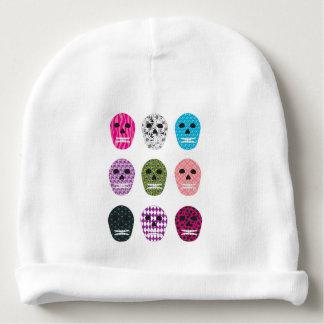 Sugar Pattern Skulls Baby Beanie