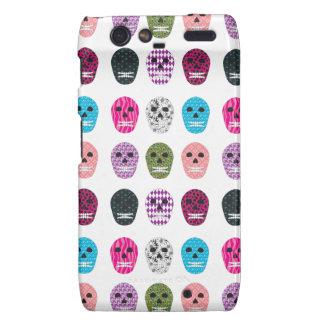 Sugar Pattern Skulls Motorola Droid RAZR Case