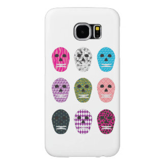 Sugar Pattern Skulls Samsung Galaxy S6 Case