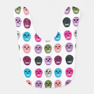 Sugar Pattern Skulls Baby Bibs