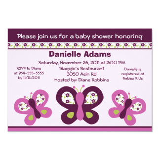 Sugar Plum Butterflies #2 Baby Shower Invitations
