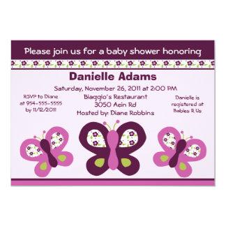 Sugar Plum Butterflies #2 Baby Shower Invitations