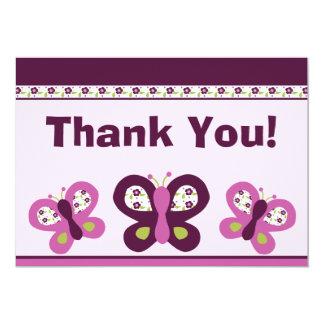 Sugar Plum Butterflies #2 Thank You Card Custom Invitations