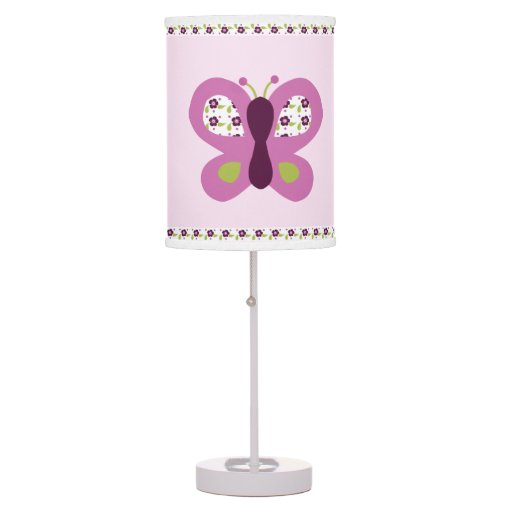 Sugar Plum Butterflies Baby Nursery Lamp