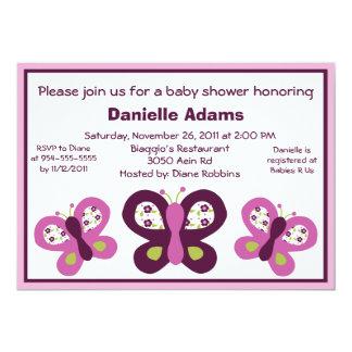 Sugar Plum Butterflies Baby Shower Invitations