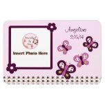 Sugar Plum Butterflies Personalized Photo Magnet