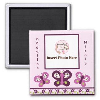 Sugar Plum Butterflies Photo Frame Magnet So Cute