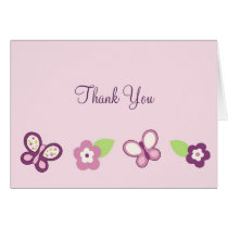 Sugar Plum Butterfly Thank You Note Cards