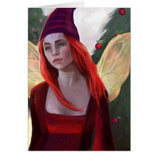 Sugar Plum Fairy Holiday Painting Card