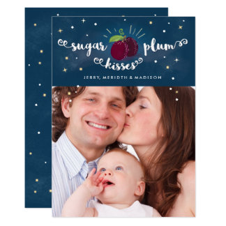 Sugar Plum Kisses Card w/envelope included