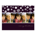 Sugar Plum Snowflakes :: Christmas Photo Postcard