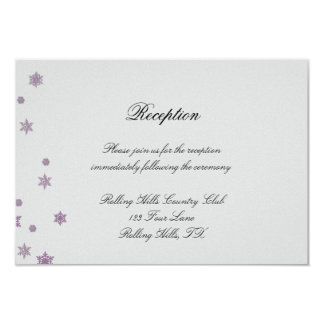 Sugar Plum Tree Snowflakes Wedding Reception Card