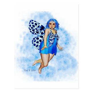 Sugar Plump Fairies - Blueberry Ripple Postcard