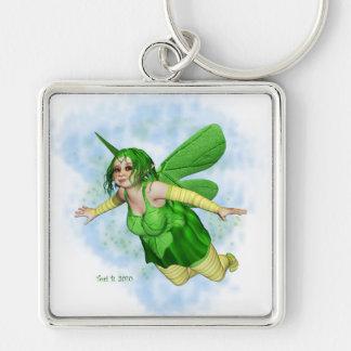 Sugar Plump Fairies-Lemon Lime Silver-Colored Square Keychain