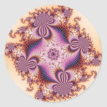 Sugar Plums - Fractal Classic Round Sticker