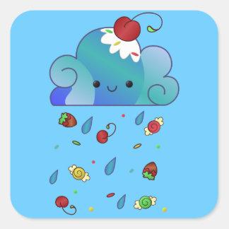 Sugar Rain Square Sticker