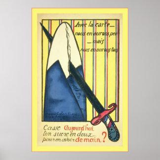Sugar Ration ~ Vintage French World War 1 Poster