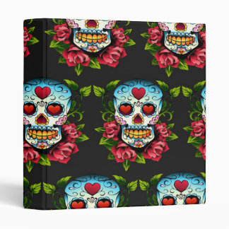 Sugar Skull 3 Ring Binder