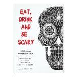 Sugar Skull 5x7 Paper Invitation Card