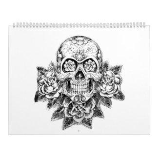 Sugar skull adult coloring Calendar