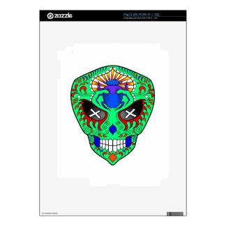 Sugar Skull alien with scarab on forehead iPad 2 Decal