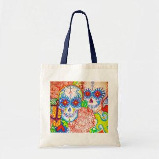 sugar skull anchor sea tote bag tattoo style