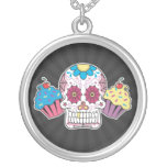 Sugar Skull and Cupcakes Custom Jewelry