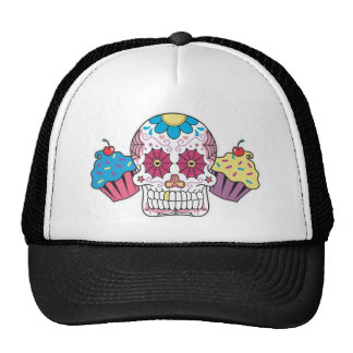 Sugar Skull and Cupcakes Trucker Hat