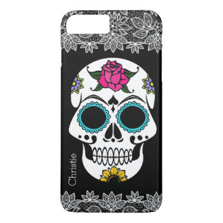 Sugar Skull and White Lace iPhone 7 Plus Case