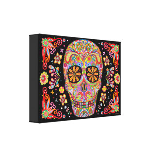 Sugar Skull Art Canvas Print