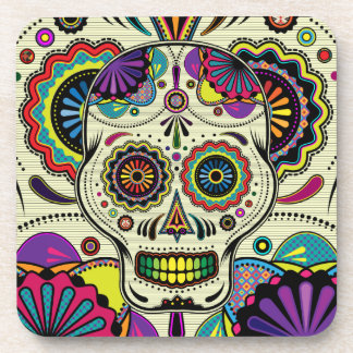 Sugar Skull Art / Day of the Dead coasters