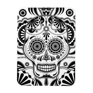 "Sugar Skull Art ""Day of the Dead"" magnet"