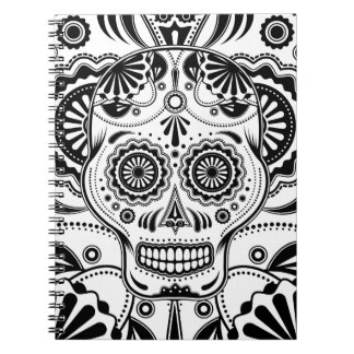 """Sugar Skull Art """"Day of the Dead"""" notebook"""
