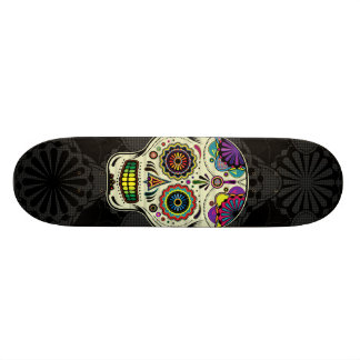 Sugar Skull Art - Day of the Dead Skateboard