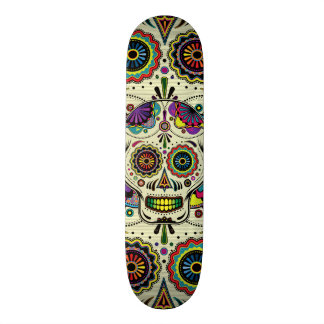 Sugar Skull Art Day of the Dead Skateboard