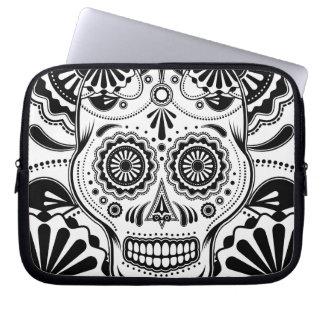 "Sugar Skull Art ""Day of the Dead"" sleeve Laptop Sleeves"