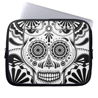 "Sugar Skull Art ""Day of the Dead"" sleeve Laptop Sleeves"