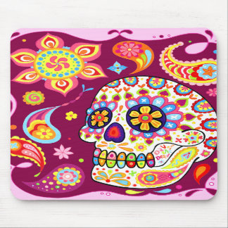 Sugar Skull Art Mousepad Day of the Dead