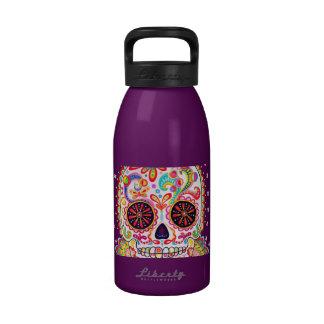 Sugar Skull Art Water Bottle Reusable Water Bottles