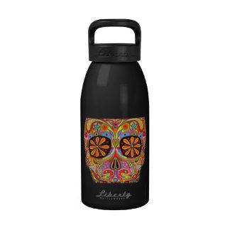 Sugar Skull Art Water Bottle Water Bottles