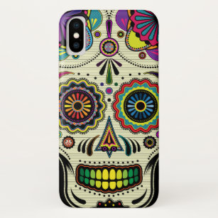 Sugar Skull Aztec Art Day of the Dead iPhone X Case