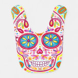Sugar Skull Baby Bib - Colorful Art at Zazzle