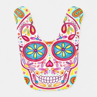 Sugar Skull Baby Bib - Colorful Art